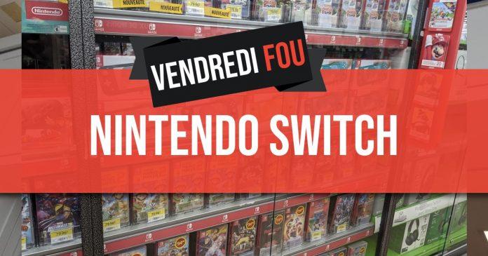 Rabais du Vendredi Fou sur les consoles Nintendo Switch