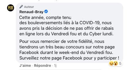 Renaud Bray annule son Vendredi Fou